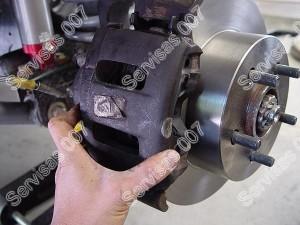 Stabdžių suportas kartu su stabdžių disku