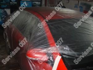 Kėbulo apsauga tam kad nepasidengtų antikorozinėmis priemonėmis kurios bus purškiamos ant dugno, arkų ir slenksčių