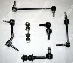 Įvairios stabilizatoriaus traukutės, su šarnyriukais ir be šarnyriukų