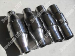 Rezonatorius - paprastas ir sukūrinis rezonatorius paprastai virinamas vietoje katalizatoriaus