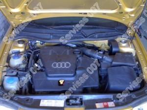 Sumontuotos tiesioginio įpurškimo dujos į Audi A3 automobilį