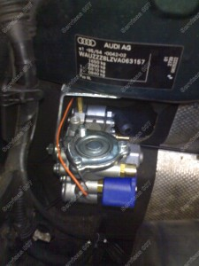 Reduktoriaus vieta variklio skyriuje, tvirtinai pritvirtinama kad nesimaišytų kitiems komponentams variklio skyriuje