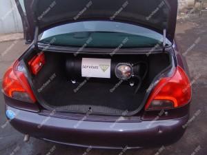 Cilindrinio dujų baliono montavimas į Ford Mondeo automobilį