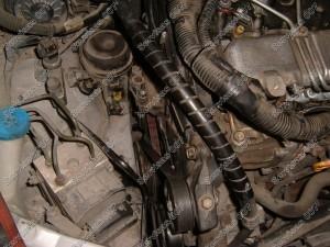 Surenkame D-4D variklio apsaugas po paskirstymo diržo keitimo, dedame išorinius dirželius.