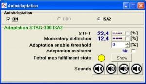 Stag 300-Isa2 - Auto adaptation funkcijos įjungimas