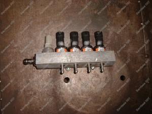 BRC dujų purkštukų reilas paruoštas montavimui