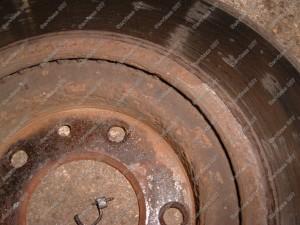 Surūdijęs stabdžių diskas