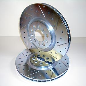 Suraižyti bei sugręžioti stabdžių diskai - dideliems apkrovimams;