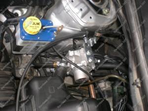 JLM vožtuvų tepimo sistema sumontuota kartu su dujų įranga BRC Servise 007
