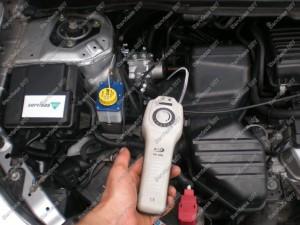 Dujų nuotėkio patikrinimas montuojant dujų įrangą Servise 007