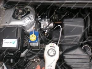 Dujų nuotėkio tikrinimas po dujų įtrangos montavimo Servise 007