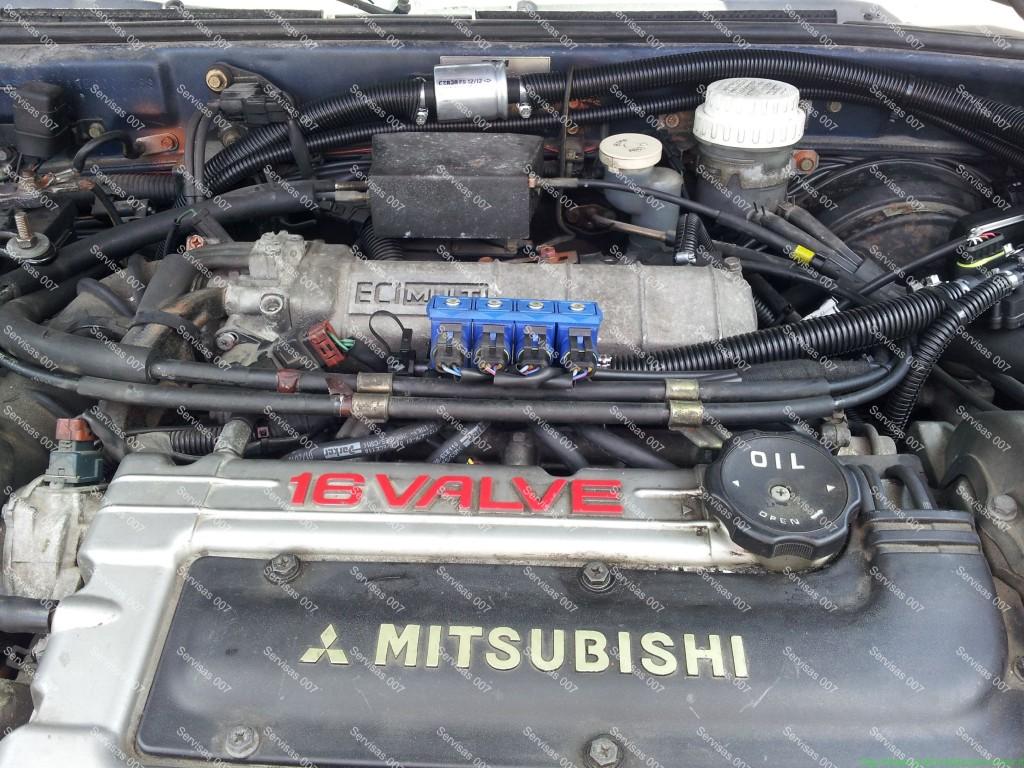 STAG QBox dujų įranga sumontuota į Mitsubishi Eclipse automobilį