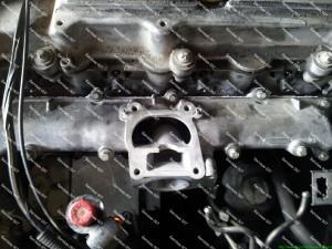 Išplautas Opel dyzelinio variklio kolektorius ir jo dalys bei kolektoriaus surinkimas;