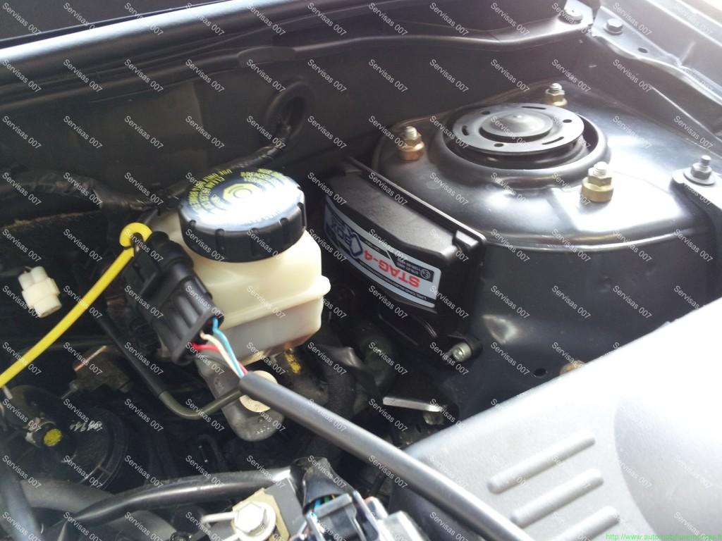STAG QBox dujų kompiuteris sumontuotas į Toyota Corolla 1.6 VVT-i