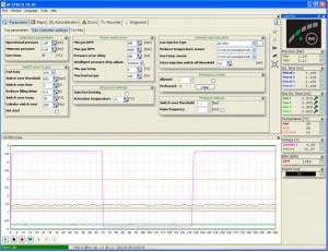 Stag 4 Box Programos valdymo ir kalibracijos langas