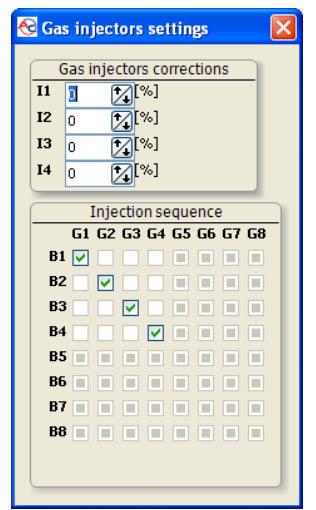 Sekvencinės sekos korekcija STAG QBox dujų įrangoje