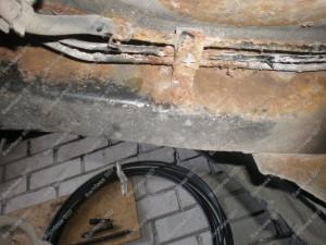 Vamzdukų būklė kurie gerokai pažeisti korozijos;