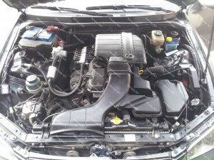 Lexus IS 200 variklio skyrius PO dujų įrangos sumontavimo Servise 007