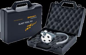 Įrankiai reikalingi išoriniam elastiniam diržui uždėti