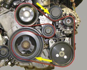 Išorinis variklio dirželis ir jo keitimas Servise 007