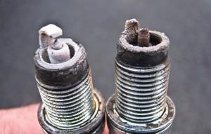 Prastai dirbančios arba nedirbančios variklio žvakės