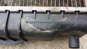 Mėgintas klijuoti radiatorius