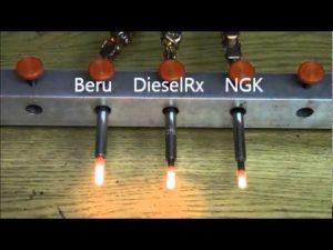 Pakaitinimo žvakės kaista skirtingai, skiriasi ir pats greitis per kiek žvakė pakaista tiek ir pats kaitrumas