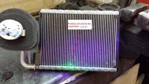 Leidžiantis kondicionieriaus radiatorius arba kondensatorius