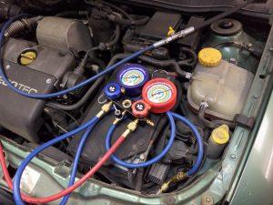 Kondicionieriaus sandarumo patikra naudojant azoto dujas Servise 007