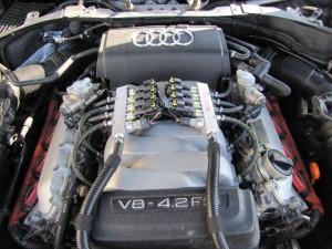 BRC Direct dujų įrangos montavimas į Audi 4.2 FSI V8