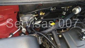 Landi Renzo Li02 Turbo dujų reduktoriaus montavimas Toyota Hybrid automobilyje