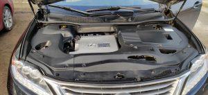 Lexus RX450H kuriam sumontuota Landi Renzo dujų įranga
