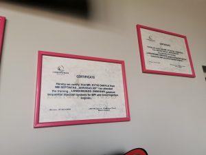 Landi Renzo dujų įrangos montavimas Servise 007 Kaune - Sertifikatas kad meistrai dirbantys Servise 007 yra aukščiausio lygio, sertifikuoti Landi Renzo dujų specialistai;