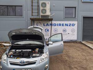 Landi Renzo EVO dujų įranga sumontuota į Hibridinį Toyota Auris 1.8