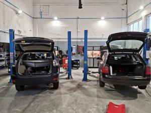 Dujų įrangos montavimo eigoje Servise 007