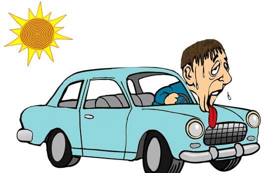 Neveikiantis automobilio kondicionierius